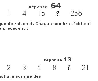 suite alphanumerique